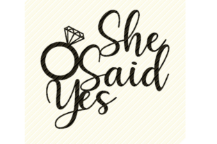 Print on Demand: She Said Yes Cake Topper Graphic Graphic Crafts By SVGPlaceDesign