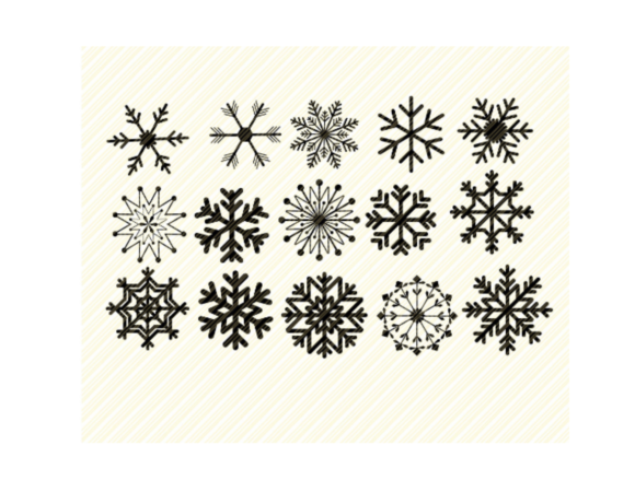 Print on Demand: Snowflakes Winter Set Bundle Graphic Graphic Crafts By SVGPlaceDesign