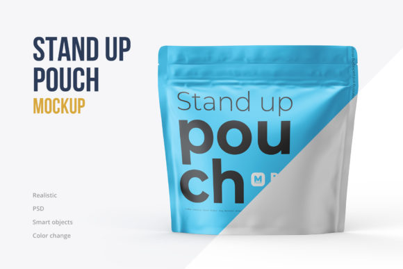 Square Stand-up Pouch Mockup Front View Graphic Product Mockups By mock-up.ru