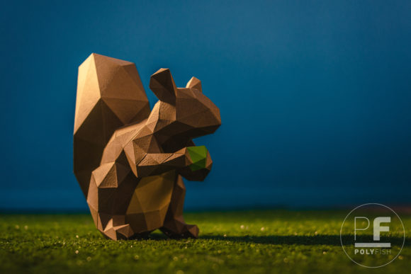 Squirrel Papercraft Graphic Crafts By PolyFish