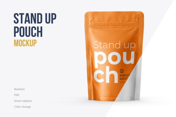 Stand Up Pouch Mockup Front View Graphic Product Mockups By mock-up.ru
