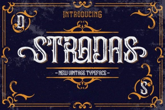 Print on Demand: Stradas Display Font By Din Studio - Image 1