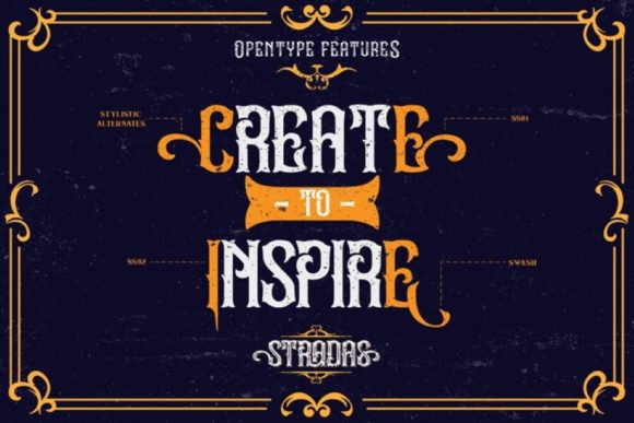 Print on Demand: Stradas Display Font By Din Studio - Image 12