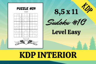 Print on Demand: Sudoku #10 | 60 Puzzles | KDP Interior Graphic KDP Interiors By KDP Mastermind