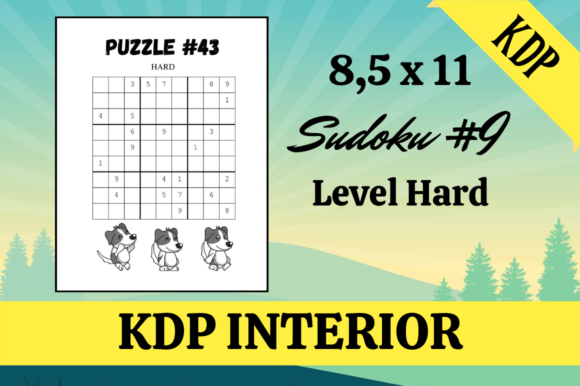 Print on Demand: Sudoku #9 | 60 Puzzles | KDP Interior Graphic KDP Interiors By Hungry Puppy Studio