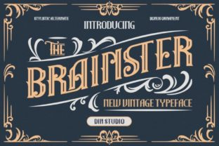 Print on Demand: The Brainster Display Font By Din Studio 1
