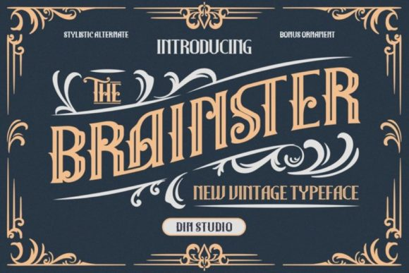Print on Demand: The Brainster Display Font By Din Studio