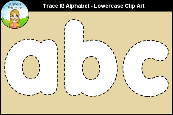 Print on Demand: Trace It! Alphabet - Lowercase Clip Art Graphic Teaching Materials By Aisne Educlips