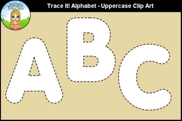 Print on Demand: Trace It! Alphabet - Uppercase Clip Art Graphic Teaching Materials By Aisne Educlips