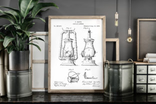 Print on Demand: Tubular Lantern 1888 Patent Art Poster Graphic Illustrations By Antique Pixls