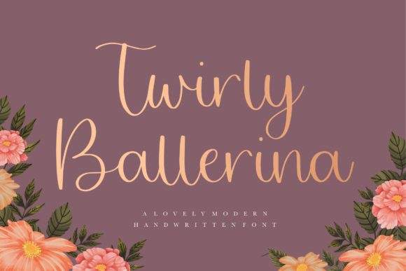 Print on Demand: Twirly Ballerina Script & Handwritten Font By Balpirick