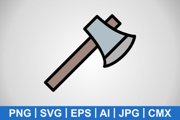 Print on Demand: Vector Axe Icon Graphic Icons By IYIKON
