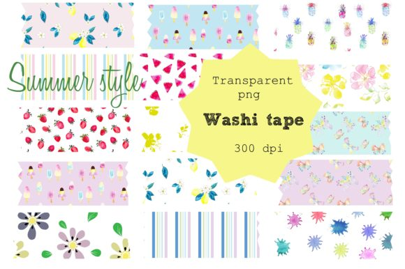 Print on Demand: Washi Tape Summer Style Graphic Illustrations By Anines Atelier