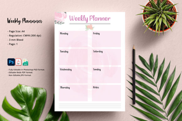 Print on Demand: Weekly Planner Graphic KDP Interiors By SmmrDesign