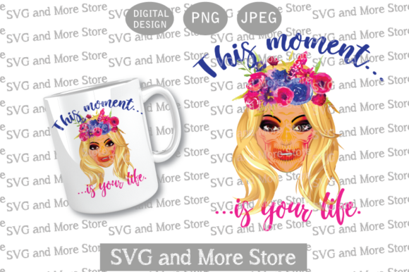 Woman with Colorful Skull, Blonde Graphic Illustrations By svgandmorestore