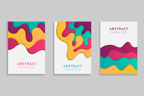 Minimal Cover Design in Paper Cut Graphic Backgrounds By medelwardi