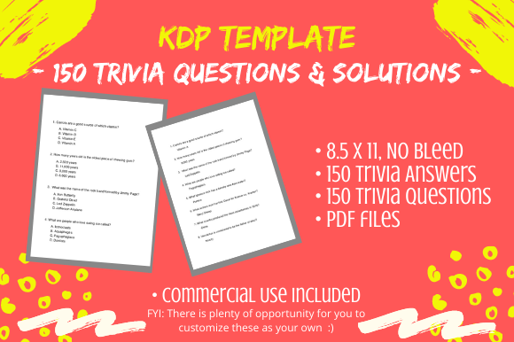 Print on Demand: 150 Large Print Trivia Questions/Answers Graphic KDP Interiors By Tomboy Designs