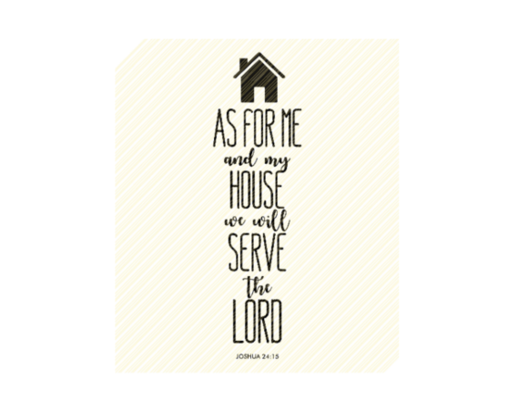 Download As for Me and My House Bible... SVG Cut Files