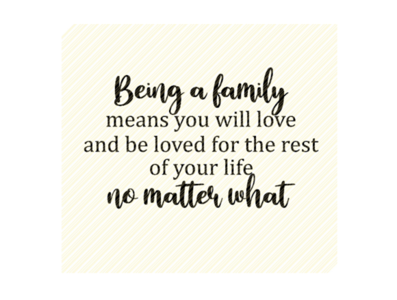 Being a Family Quote Graphic Graphic Crafts By SVGPlaceDesign