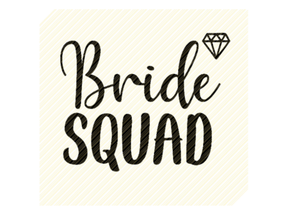 Print on Demand: Bride Squad Bridal Shower Graphic Graphic Crafts By SVGPlaceDesign