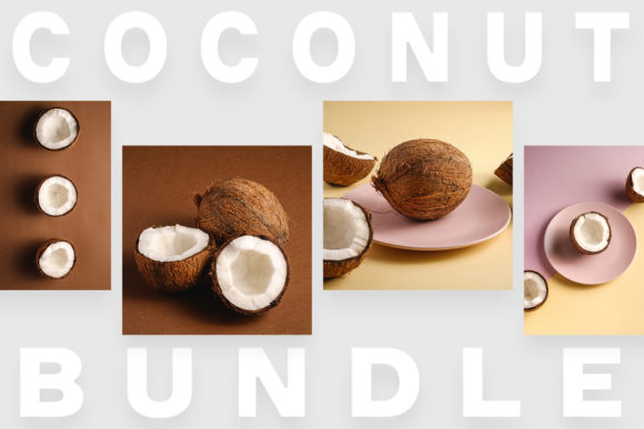 Print on Demand: Coconut Minimal Bundle, 130 Photos Graphic Food & Drinks By frostroomhead