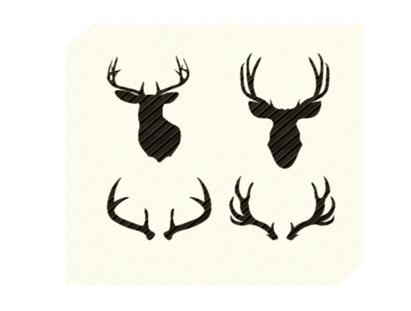 Print on Demand: Deer Head Antlers Hunting Graphic Graphic Crafts By SVGPlaceDesign
