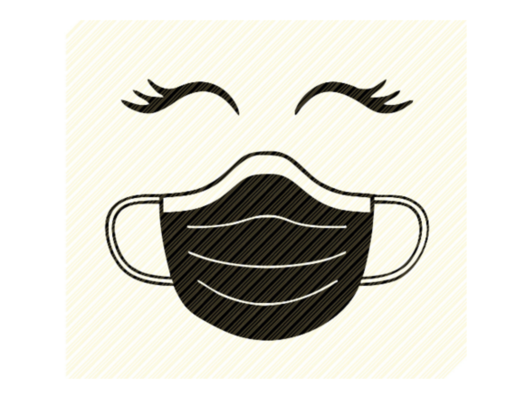 Face Mask Eyelashes Woman's Face Graphic Graphic