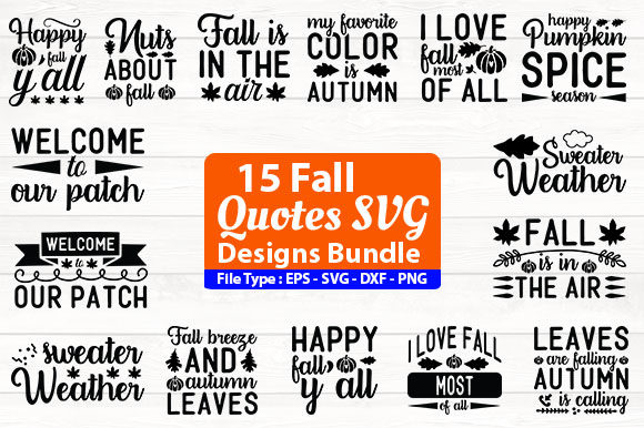 Print on Demand: Fall Design Bundle Graphic Print Templates By Design Store