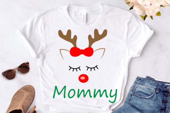 Print on Demand: Family Christmas Reindeer T-shirts Svg Graphic Crafts By Lillyrosy