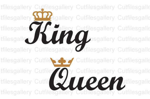 King and Queen SVG, Crown SVG Graphic Crafts By cutfilesgallery