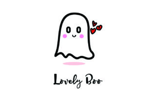 Mascot Lovely Boo Halloween Vector Graphic Crafts By Yuhana Purwanti