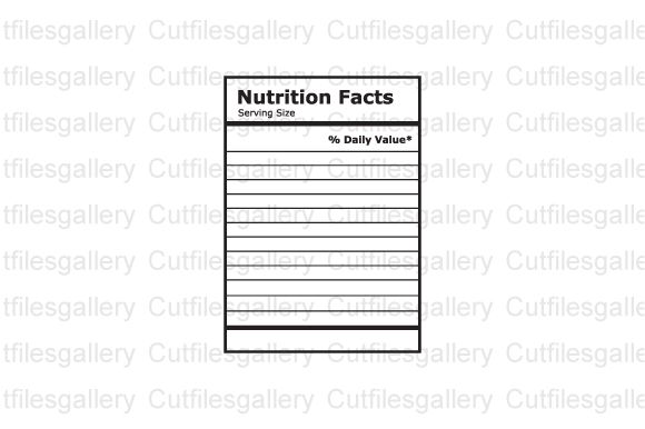 Nutrition Facts Template SVG File