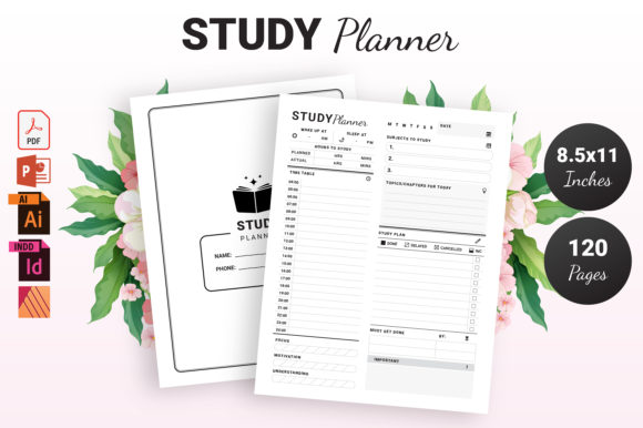 Print on Demand: Study Planner - KDP Interior Graphic KDP Interiors By KDP Ninja
