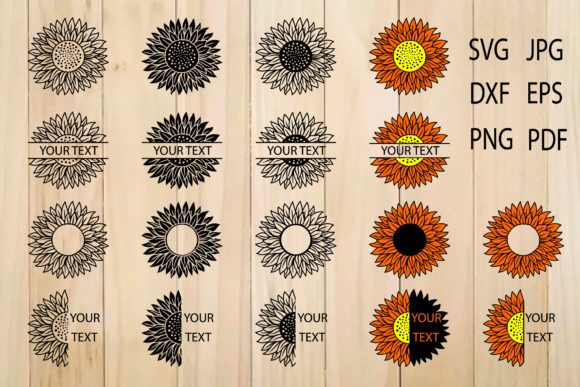 Print on Demand: Sunflowers, Sunflower Clipart, Flower Graphic Crafts By yulnniya