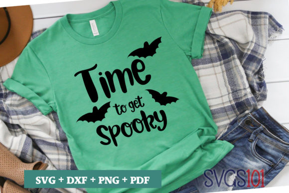 Time to Get Spooky Tshirt Design Graphic Illustrations By svgs101