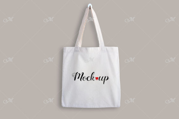 Tote Bag on the Wall Mock Up Graphic Product Mockups By MaddyZ