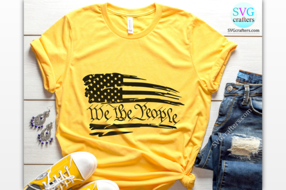 Print on Demand: We the People, American Flag Graphic Crafts By SVGcrafters