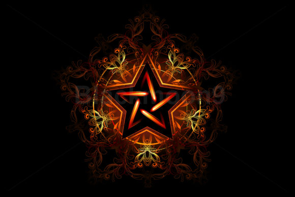 Mystical Fiery Star Graphic Illustrations By Blackmoon9