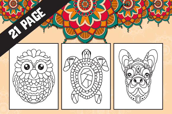 Print on Demand: 21 Mandala Coloring Pages for Kids Graphic Coloring Pages & Books Kids By Fox Design Studio