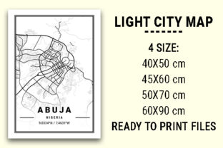 Print on Demand: Abuja Light City Map Graphic Photos By tienstencil