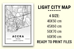 Print on Demand: Accra Light City Map Graphic Photos By tienstencil