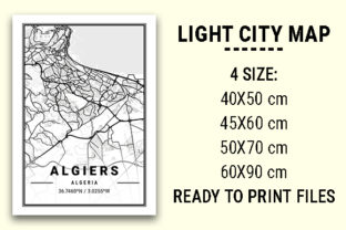 Print on Demand: Algiers Light City Map Graphic Photos By tienstencil