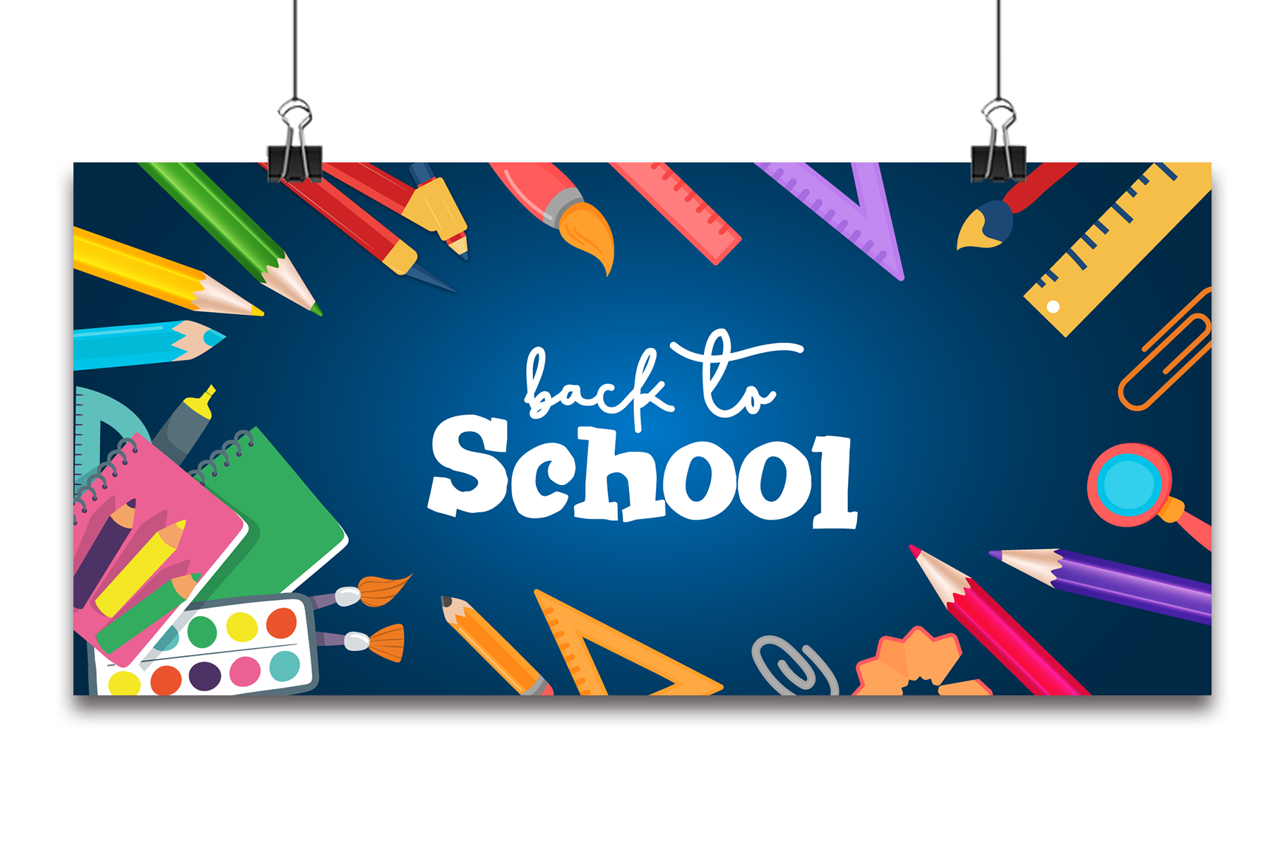 Back to School Banner Vector Background. Graphic by Ju Design · Creative  Fabrica