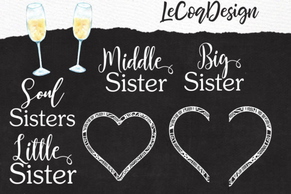 Best Friends Clipart Girls Back View Graphic Illustrations By LeCoqDesign - Image 5
