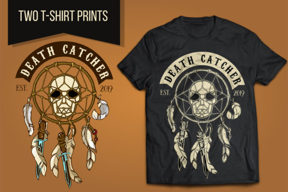 Biker Skull Death Catcher Graphic Illustrations By LaLaFa