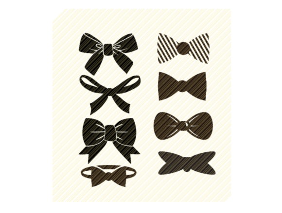 Print on Demand: Bow Tie Hair Bow, Bows Set Graphic Graphic Crafts By SVGPlaceDesign