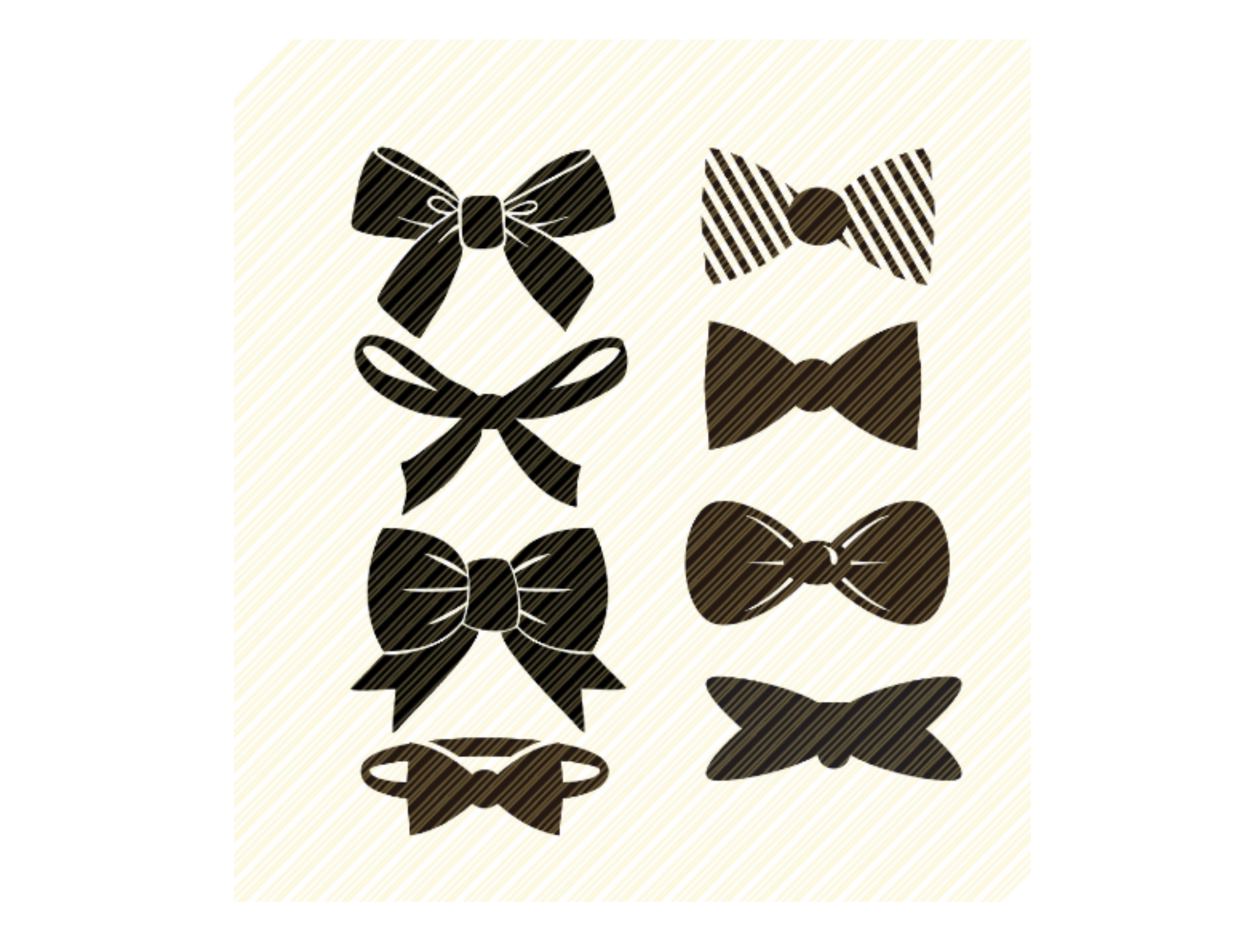 Bow Tie Hair Bow Bows Set Graphic Graphic By Svgplacedesign Creative Fabrica