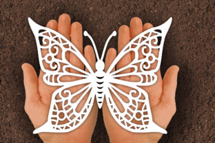 Print on Demand: Butterfly Paper Cut Template (2 Type) Graphic Print Templates By johanruartist