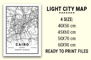 Print on Demand: Cairo Light City Map Graphic Photos By tienstencil