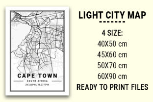 Print on Demand: Cape Town Light City Map Graphic Photos By tienstencil